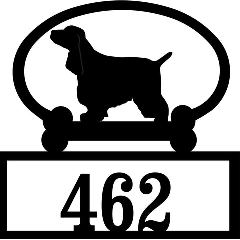 Sweeney Ridge English Cocker Spaniel Custom House Number Sign