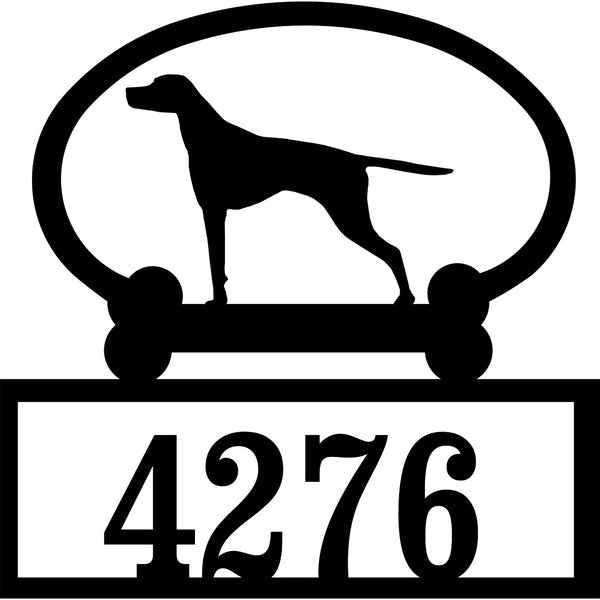 Sweeney Ridge English Pointer Custom House Number Sign