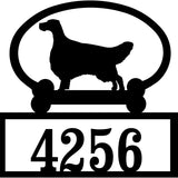 Sweeney Ridge English Setter Custom House Number Sign