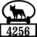 Sweeney Ridge French Bulldog Custom House Number Sign