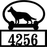 Sweeney Ridge German Shepherd Custom House Number Sign