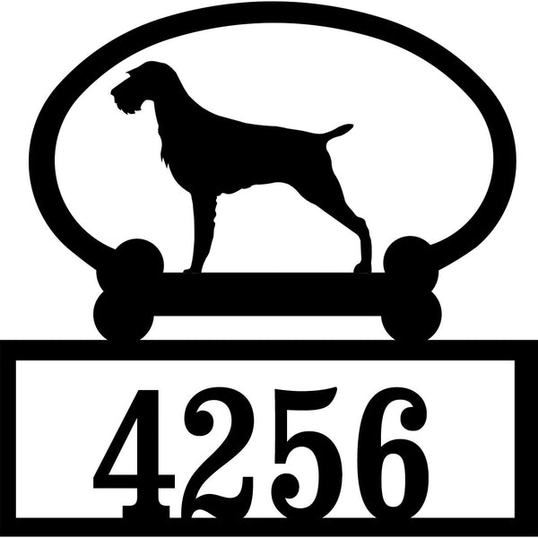 Sweeney Ridge German Wire Hair Pointer Custom House Number Sign