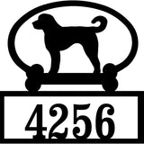 Sweeney Ridge Goldendoodle Custom House Number Sign