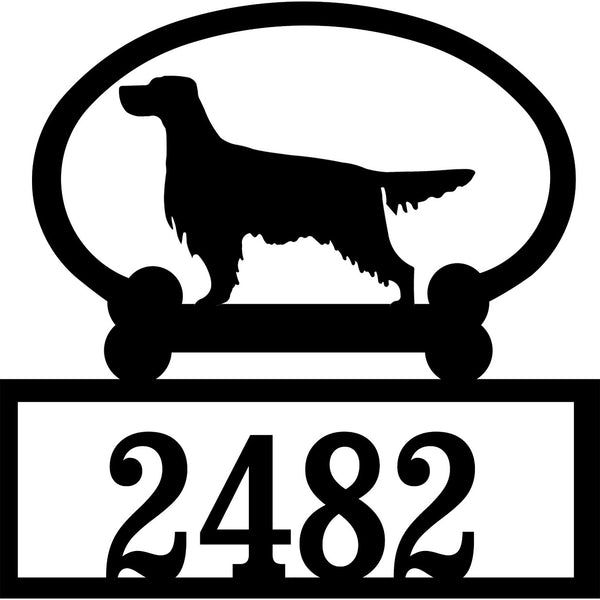 Sweeney Ridge Gordon Setter Custom House Number Sign