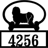 Sweeney Ridge Havanese Custom House Number Sign