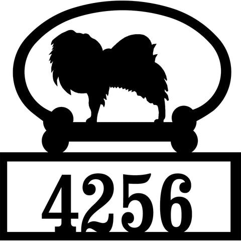 Sweeney Ridge Japanese Chin Custom House Number Sign