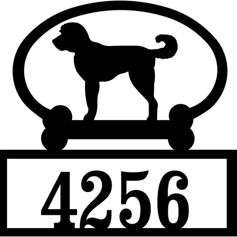 Sweeney Ridge Labradoodle Custom House Number Sign