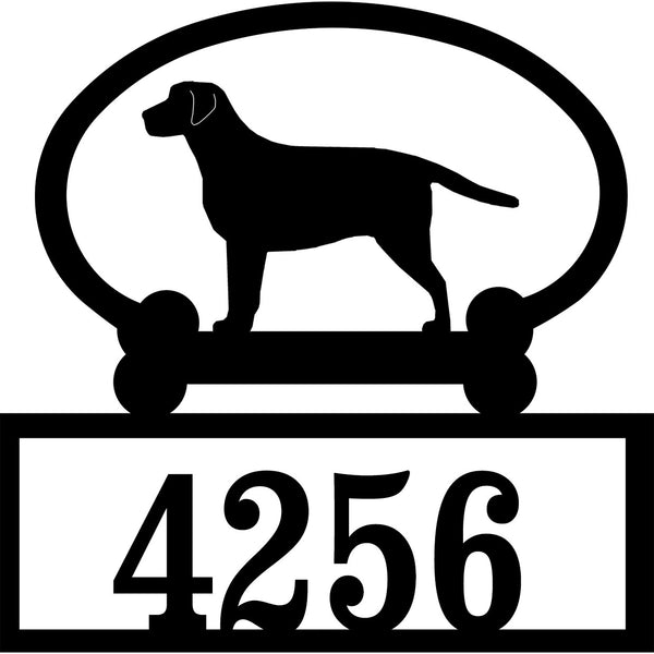Sweeney Ridge Labrador Retriever Custom House Number Sign