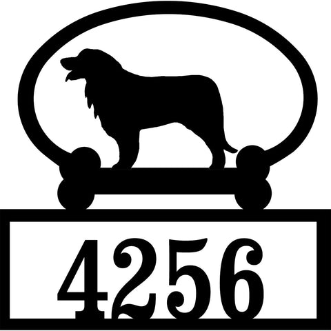 Sweeney Ridge Leonberger Custom House Number Sign