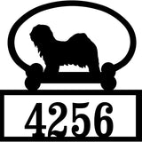 Sweeney Ridge Lhasa Apso Custom House Number Sign