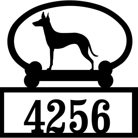 Sweeney Ridge Manchester Terrier Custom House Number Sign