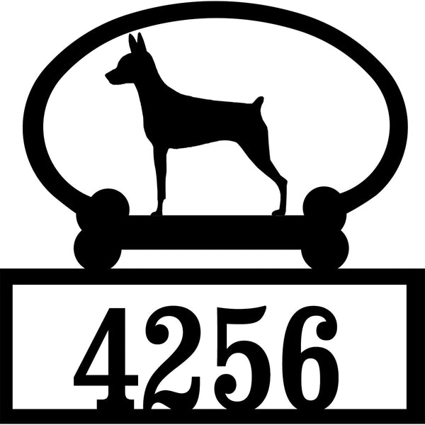 Sweeney Ridge Miniature Pinscher Custom House Number Sign