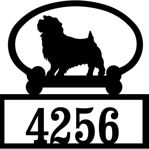 Sweeney Ridge Norfolk Terrier Custom House Number Sign