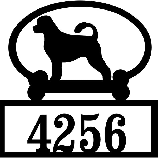 Sweeney Ridge Portuguese Water Dog Custom House Number Sign