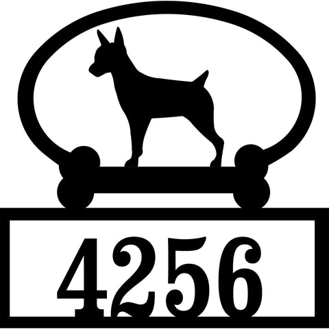 Sweeney Ridge Rat Terrier Custom House Number Sign