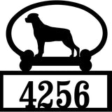 Sweeney Ridge Rottweiler (Docked Tail) Custom House Number Sign