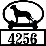 Sweeney Ridge Rottweiler (Hanging Tail) Custom House Number Sign