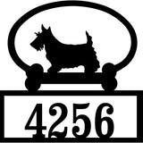 Sweeney Ridge Scottish Terrier Custom House Number Sign