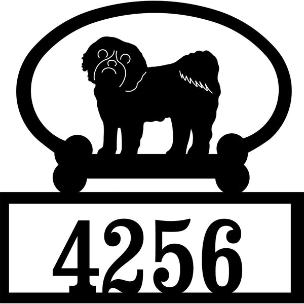 Sweeney Ridge Shih Tzu Custom House Number Sign