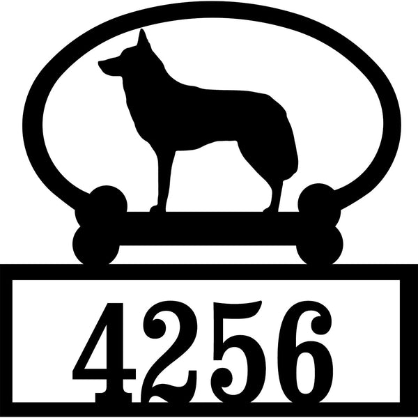 Sweeney Ridge Husky Custom House Number Sign