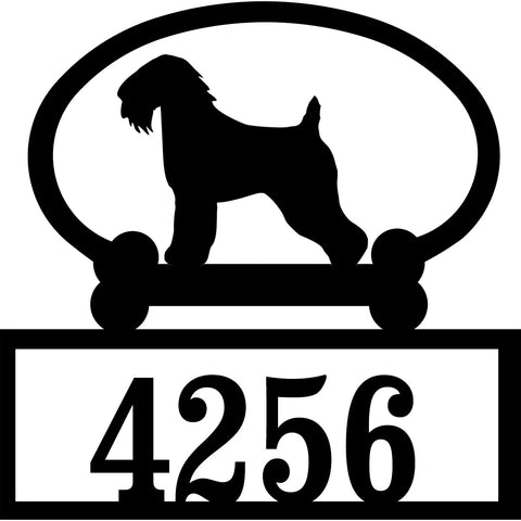 Sweeney Ridge Wheaten Terrier Custom House Number Sign