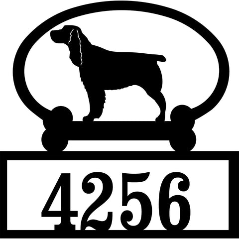 Sweeney Ridge Springer Spaniel Custom House Number Sign