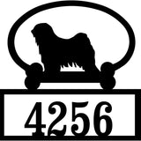 Sweeney Ridge Tibetan Terrier Custom House Number Sign