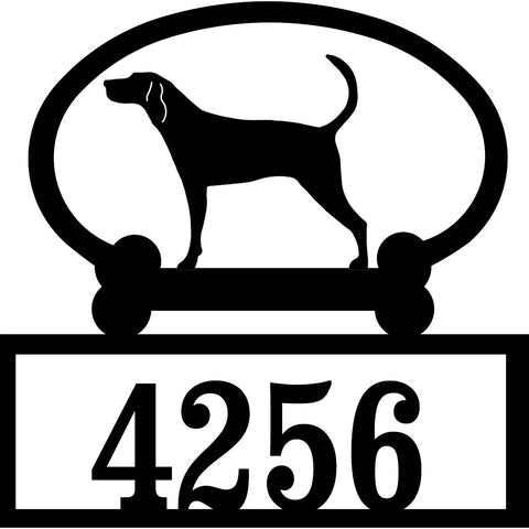 Sweeney Ridge Treeing Walker Coonhound Custom House Number Sign