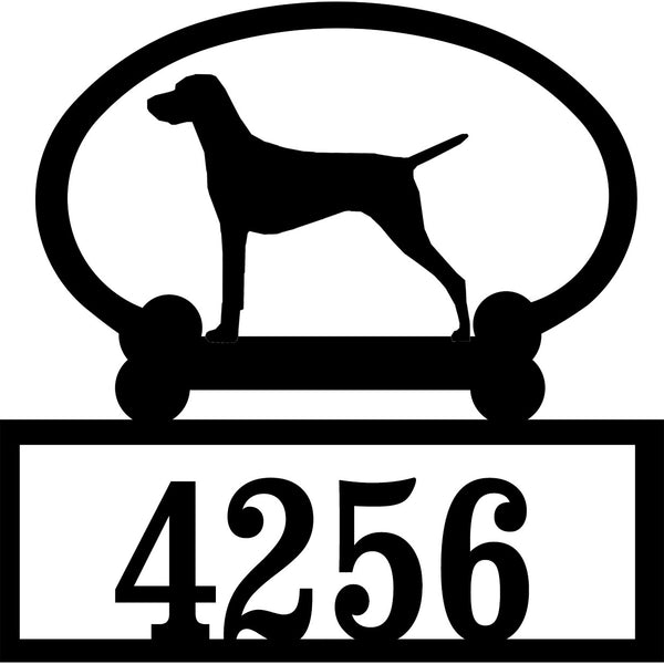 Sweeney Ridge Vizsla Custom House Number Sign