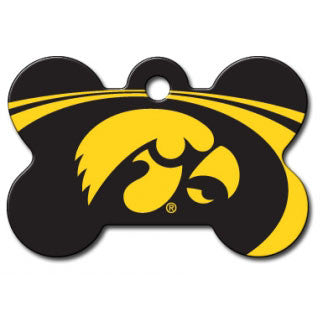 Iowa Hawkeyes NCAA Custom Engraved Dog ID Tag - Bone