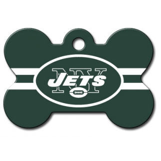 New York Jets NFL Custom Engraved Dog ID Tag - Bone