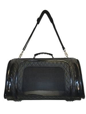 Petote Kelle Dog Carrier - Quilted Black