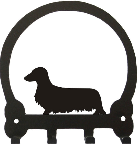 Sweeney Ridge Longhaired Dachshund Key Rack