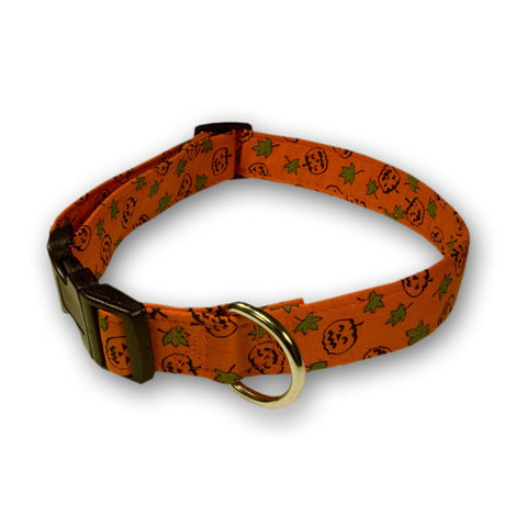 Elmo's Closet Jack O'Lanterns & Leaves Dog Collar