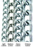 Steel Chain Dog Leash Sizing
