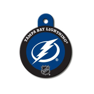 Tampa Bay Lightning NHL Custom Engraved Dog ID Tag - Round Hockey Puck