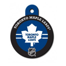 Toronto Maple Leafs NHL Custom Engraved Dog ID Tag - Round Hockey Puck