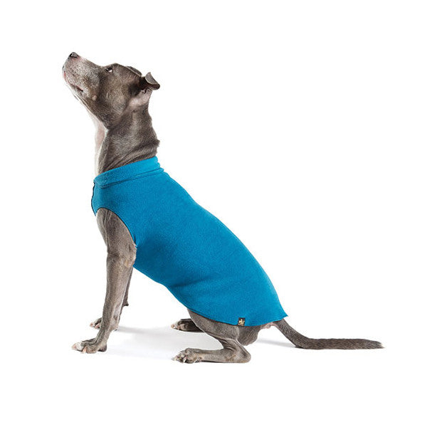 Gold Paw Stretch Fleece Dog Coat - Marine Blue