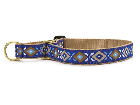 Up Country Aztec Blue Martingale Dog Collar