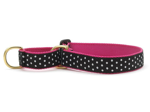 Up Country Black & White Dots Martingale Dog Collar