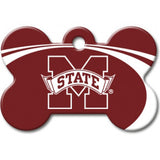 Mississippi State Bulldogs NCAA Custom Engraved Dog ID Tag - Bone