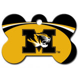 Missouri Tigers NCAA Custom Engraved Dog ID Tag - Bone
