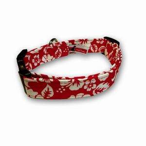 Elmo's Closet Lua Red Dog Collar