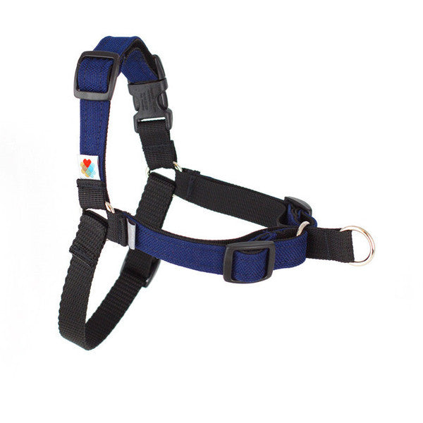 Linden Front-Leash Attachment Dog Harness - Navy