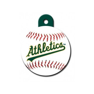 Oakland Athletics MLB Custom Engraved Dog ID Tag - Round