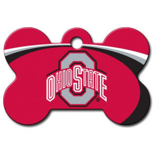 Ohio State Buckeyes NCAA Custom Engraved Dog ID Tag - Bone