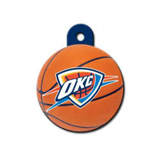 Oklahoma City Thunder NBA Custom Engraved Dog ID Tag - Round