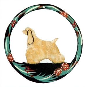 Hand Painted Dog Christmas Ornament - Cocker Spaniel