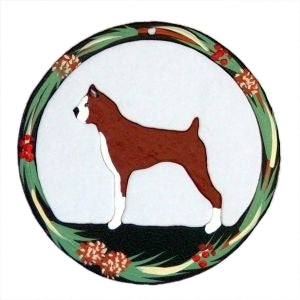 Hand Painted Dog Christmas Ornament - Boxer