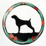 Hand Painted Dog Christmas Ornament - Weimaraner